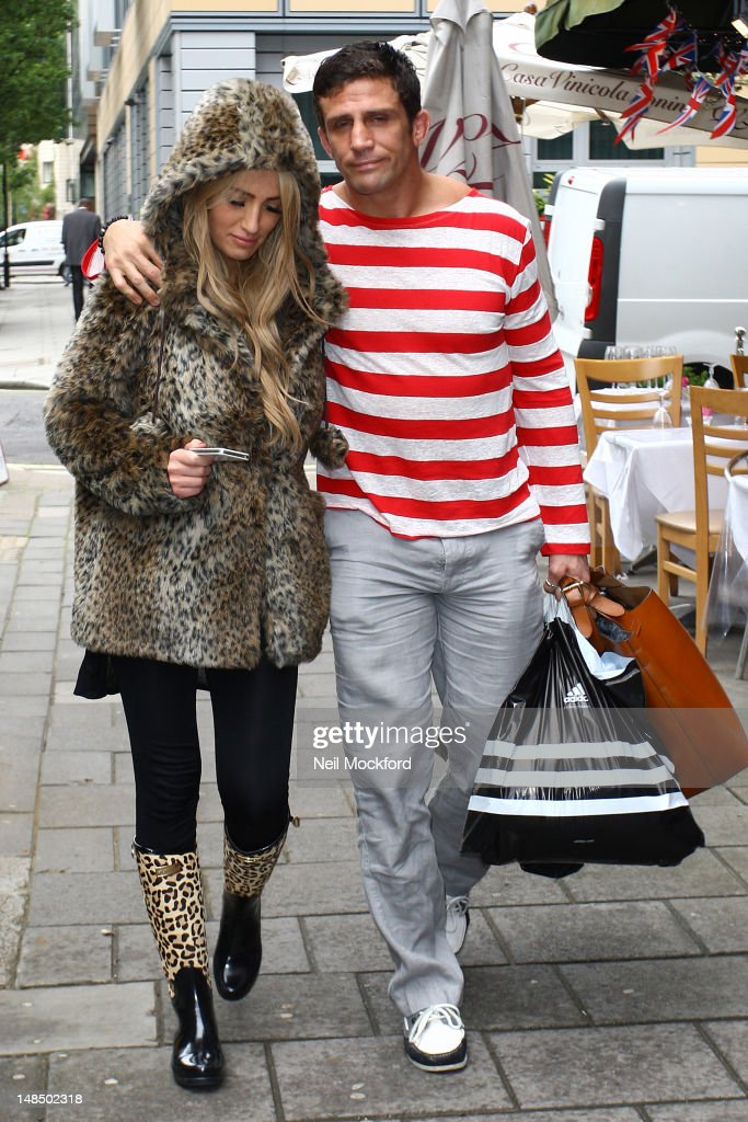 Chantelle Houghton and Alex Reid leave The London Smile Clinic on July 18 2012 in London England