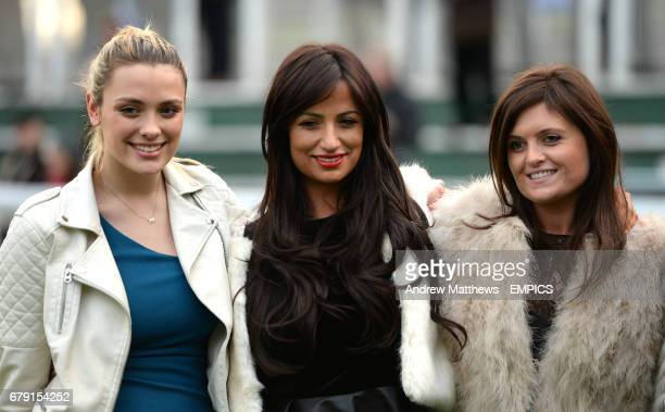 Chantelle Houghton and Wallis Day during day one of the Tingle Creek Christmas Festival at Sandown Roacecourse