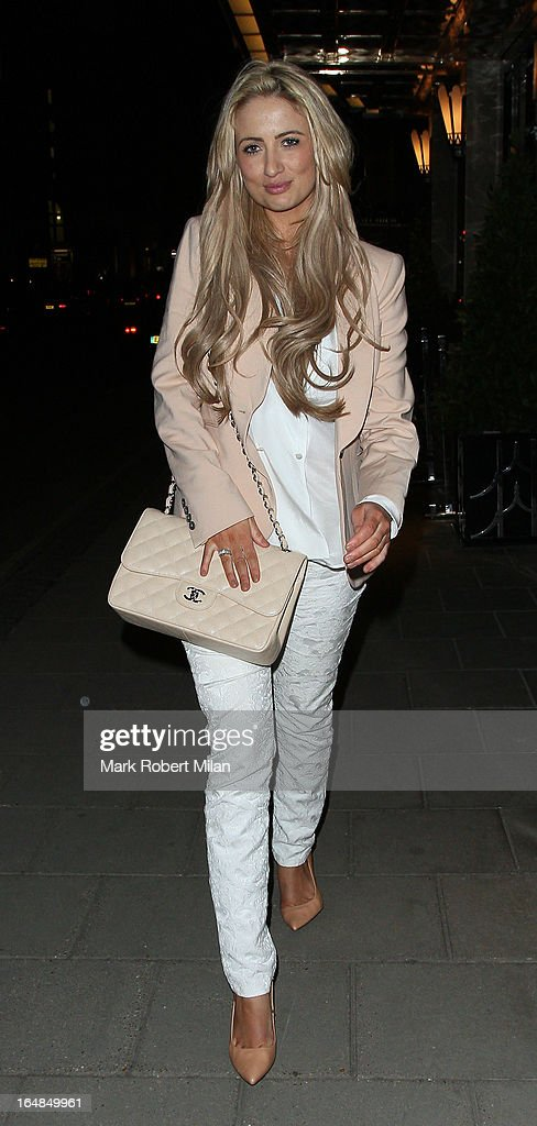 Chantelle Houghton at Claridges Hotel on March 28, 2013 in London, England.