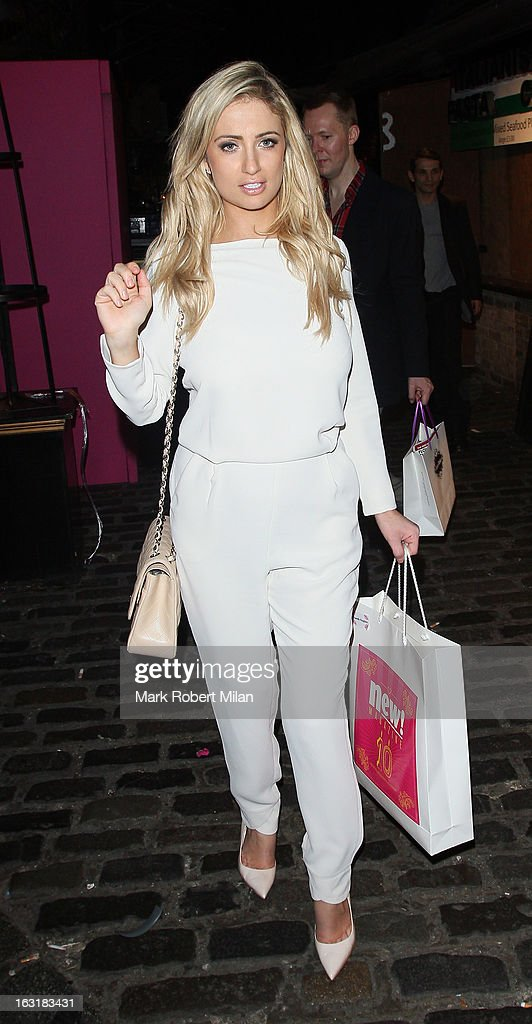 Chantelle Houghton attending the new! magazine 10th birthday party at Gilgamesh restaurant on March 5, 2013 in London, England.
