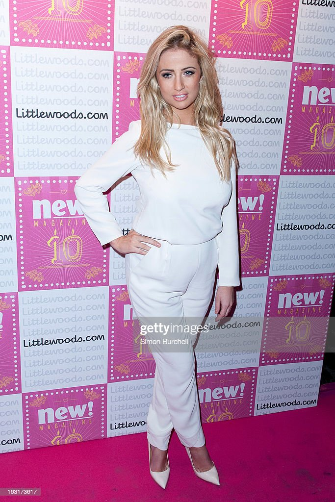 Chantelle Houghton attends as New magazine celebrate 10 years in print at Gilgamesh on March 5, 2013 in London, England.