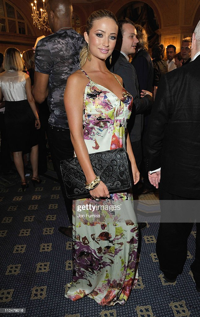 Chantelle Houghton attends the O2 Silver Clef Awards 2009 at the London Hilton on July 3 2009 in London England