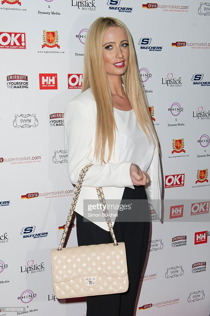 Chantelle Houghton attends the OK! Magazine Christmas Party at Sway on November 27, 2012 in London, England.