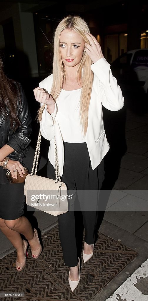 Chantelle Houghton attends the OK! Magazine Christmas Party on November 27, 2012 in London, England.