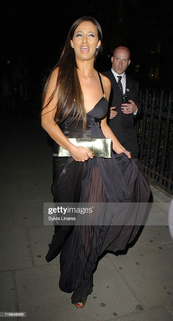 Chantelle Houghton during 2007 British Academy Television Awards Reception and Party Departures at Natural History Museum in London Great Britain