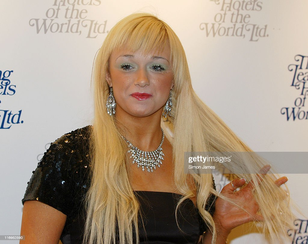 Chantelle Houghton lookalike Jacqueline Blair during Leading Hotels of the World Party at The Dorchester in London Great Britain