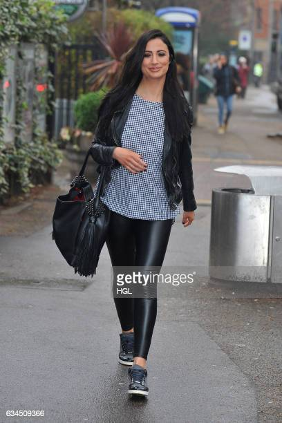 Chantelle Houghton seen outside the ITV This Morning studios on February 10 2017 in London England