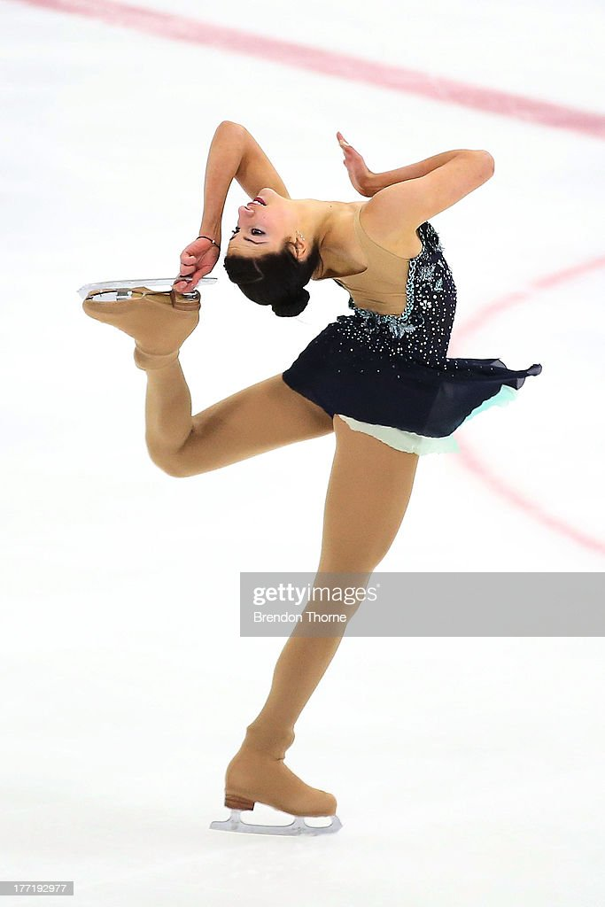 Chantelle Kerry of Australia competes in the Senior Ladies Free Program during Skate Down Under at Canterbury Olympic Ice Rink on August 22, 2013 in Sydney, Australia.