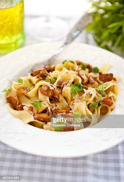 Chanterelles and Parsley Fettuccine