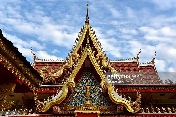 Chanthaboury roofing temple Vientiane Laos
