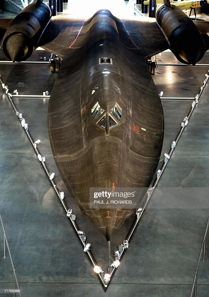The Lockheed SR71A Blackbird is displayed at the Smithsonian Institute's UdvarHazy Air Space Museum collection with hundreds of unique aircraft and...