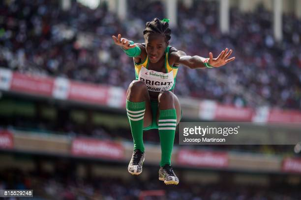 Chantoba Bright of Guinea during day 5 of the IAAF U18 World Championships at Moi International Sports Centre Kasarani Arena on July 16 2017 in...