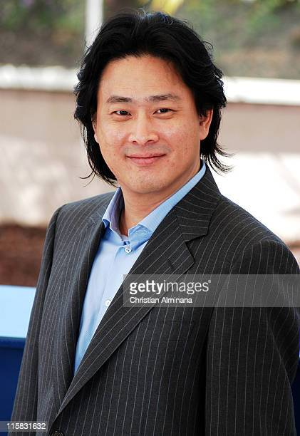 ChanWook Park writer/director during 2004 Cannes Film Festival 'Oldboy' Photocall at Palais Des Festivals in Cannes France