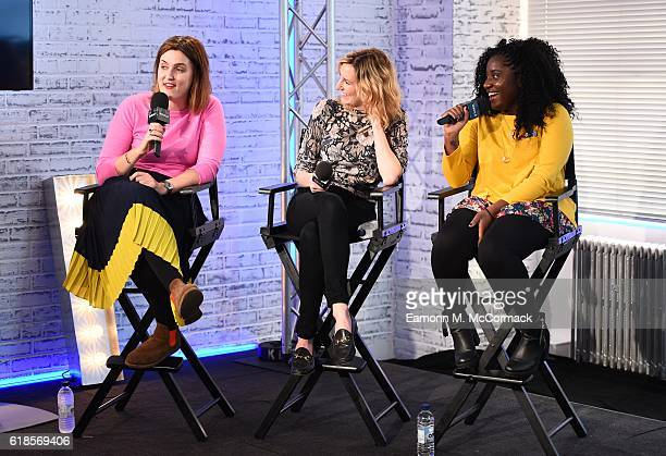 Chanya Button Laura Carmichael and Susan Wokoma from Burn Burn Burn join BUILD for a live interview at their London studio at AOL London on October...