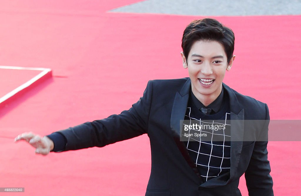 Chanyeol of Exo attends the 2015 Korea Drama Awards red carpet event at Gyeongnam Culture and Art Center on October 9, 2015 in Jinju, South Korea.