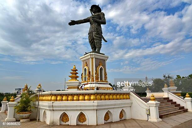 Chao  Anouvong statue Vientiane Laos