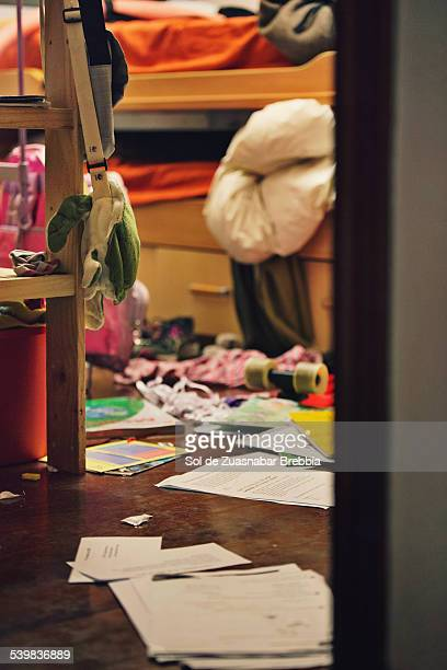Chaos. Looking towards a messy youth room