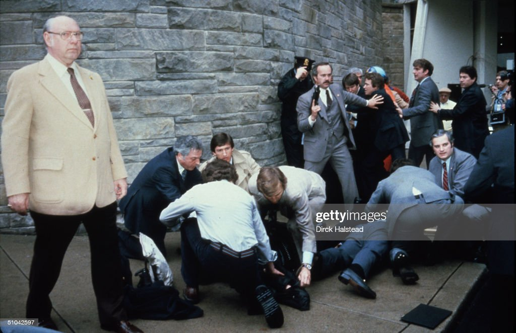 Chaos Surrounds Shooting Victims Immediately After The Assassination Attempt On President Reagan March 30 By John Hinkley Jr Outside The Hilton Hotel...