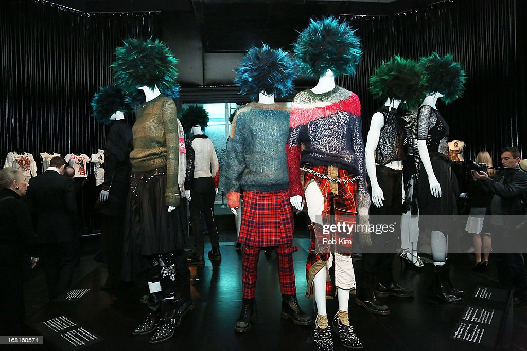 'PUNK: Chaos to Couture' Costume Institute Exhibition Press Preview at the Metropolitan Museum of Art on May 6, 2013 in New York City.