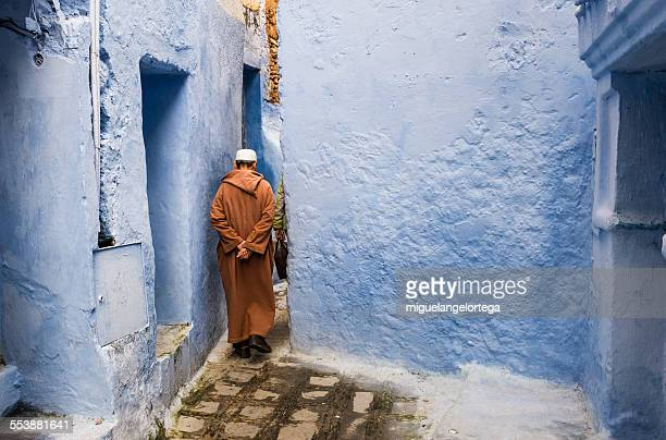 Chaouen walking man