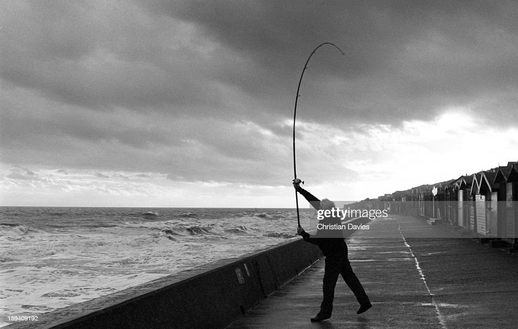 CONTENT] A chap practising Casting at Walton On The Naze
