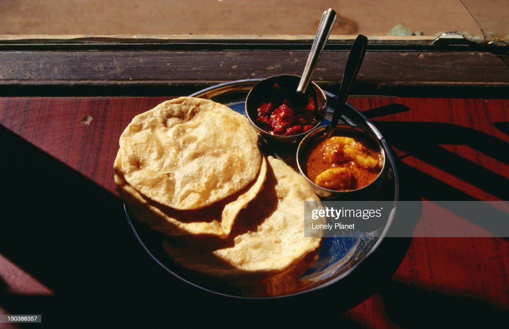 Chapati meal - An unleavened bread made from wholemeal dough and dry cooked on a hot griddle
