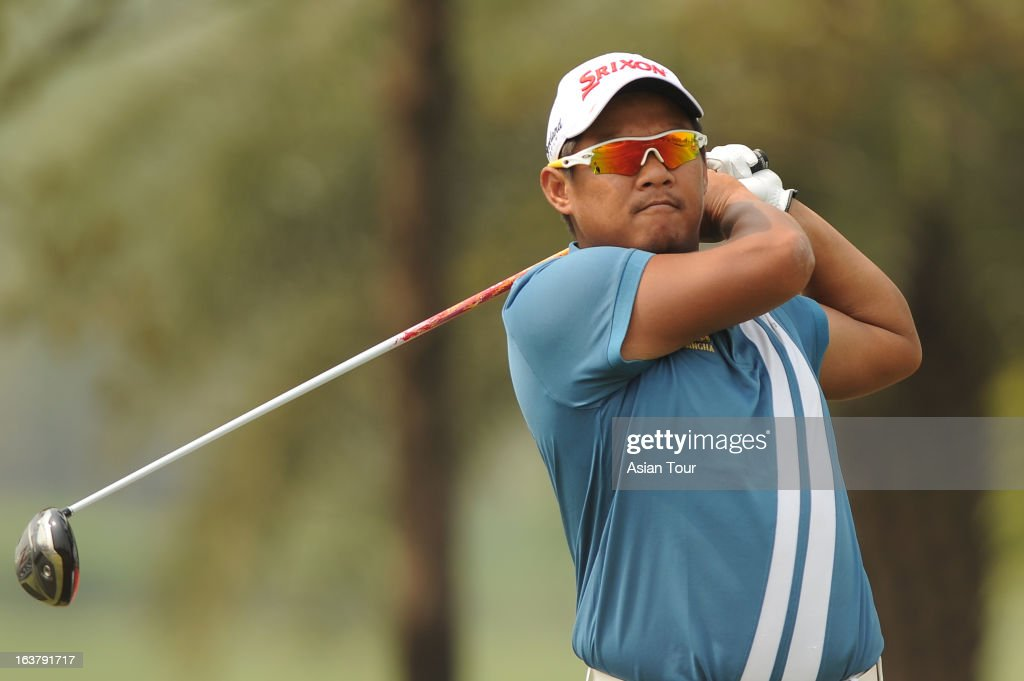 Chapchai Nirat of Thailand in action during day 3 of the Avantha Masters at Jaypee Greens Golf Course on March 16, 2013 in Noida, India.