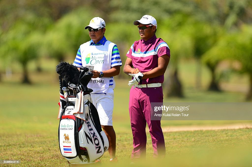 <a gi-track='captionPersonalityLinkClicked' href=/galleries/search?phrase=Chapchai+Nirat&family=editorial&specificpeople=812742 ng-click='$event.stopPropagation()'>Chapchai Nirat</a> of Thailand pictured during round three of the Leopalace21 Myanmar Open at Royal Mingalardon Golf and Country Club on February 6, 2016 in Yangon, Myanmar.