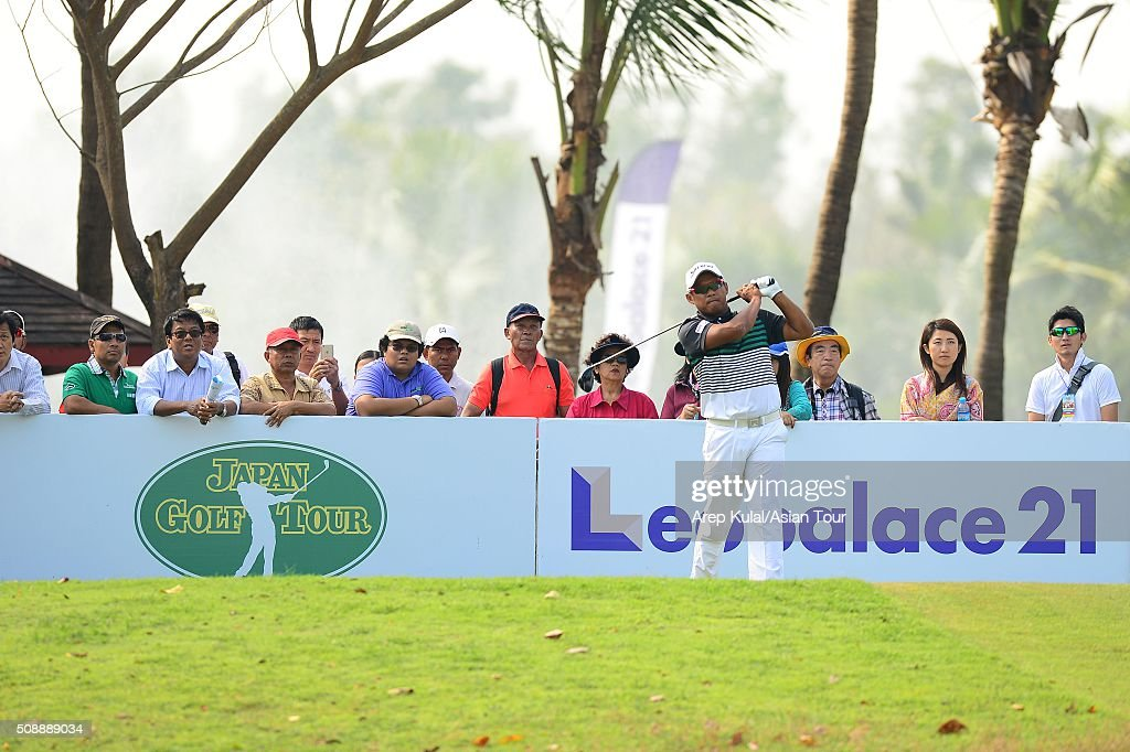 <a gi-track='captionPersonalityLinkClicked' href=/galleries/search?phrase=Chapchai+Nirat&family=editorial&specificpeople=812742 ng-click='$event.stopPropagation()'>Chapchai Nirat</a> of Thailand pictured during the final round of the Leopalace21 Myanmar Open at Royal Mingalardon Golf and Country Club on February 7, 2016 in Yangon, Myanmar.