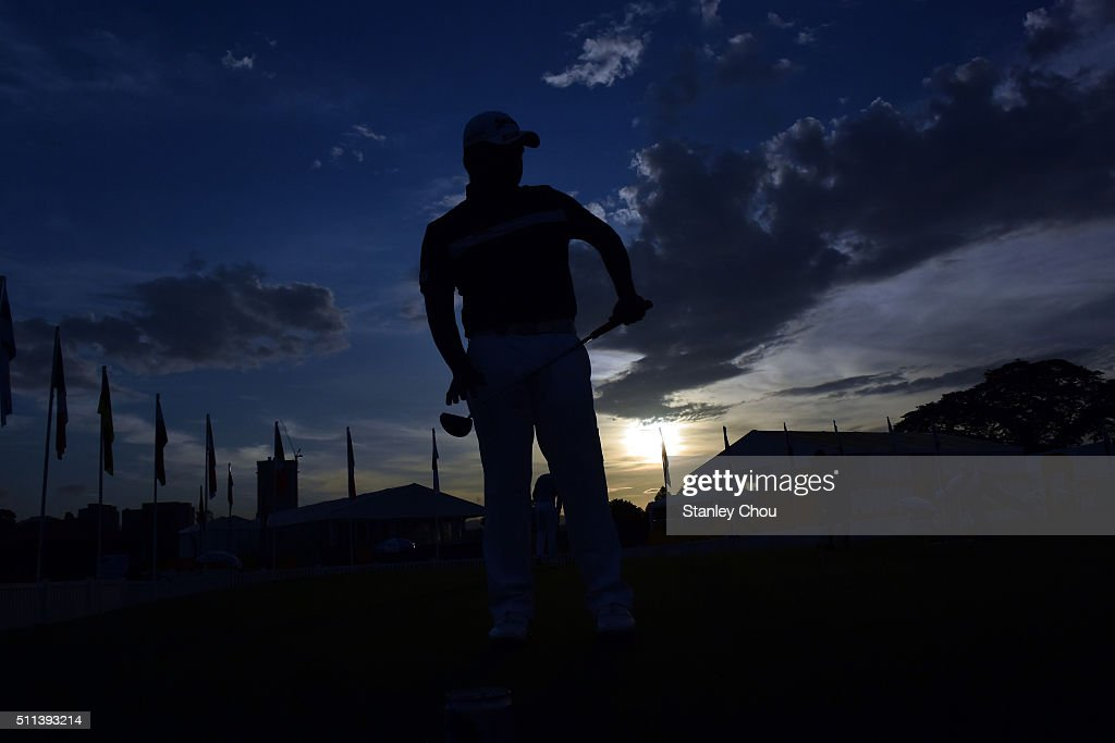 <a gi-track='captionPersonalityLinkClicked' href=/galleries/search?phrase=Chapchai+Nirat&family=editorial&specificpeople=812742 ng-click='$event.stopPropagation()'>Chapchai Nirat</a> of Thailand practices on the putting green during the Third Round of the Maybank Championship Malaysia at Royal Selangor Golf Club on February 20, 2016 in Kuala Lumpur, Malaysia.
