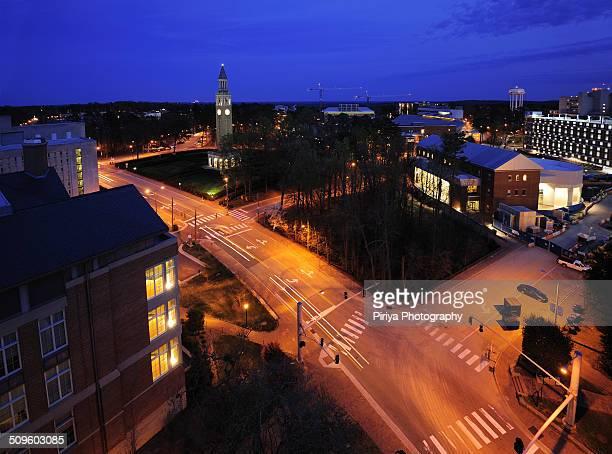 Chapel Hill at night