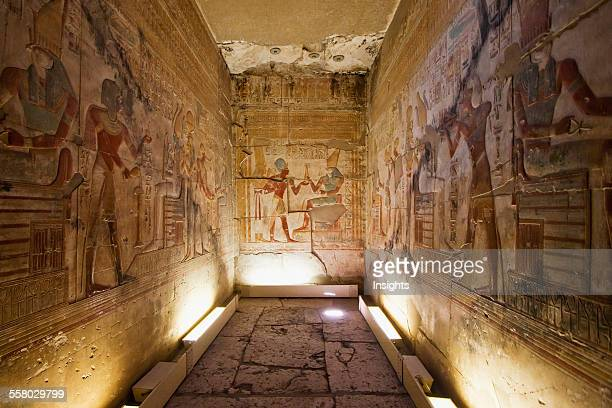 Chapel In The Temple Of Seti I Abydos Sohag Egypt