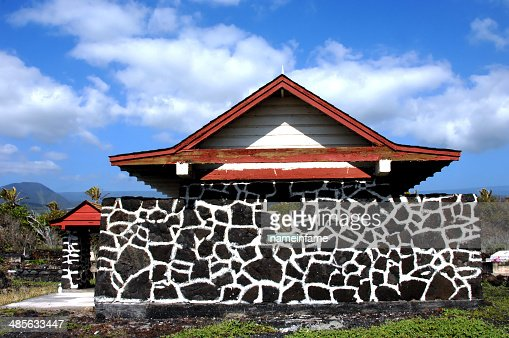 Chapel made of Hawaiian Stone : Stock Photo