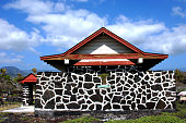 Hidden on a hilltop on the Big Island of Hawaii is the small chapel called Hoku Loa Congregational.  The cross built into the architecture shows the visitor a glimpse of the local landscape.