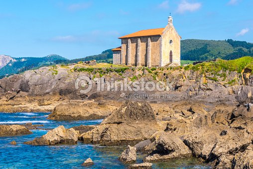 Chapel of santa catalina in mundaka bizkaia spain stock - Billabong bilbao ...