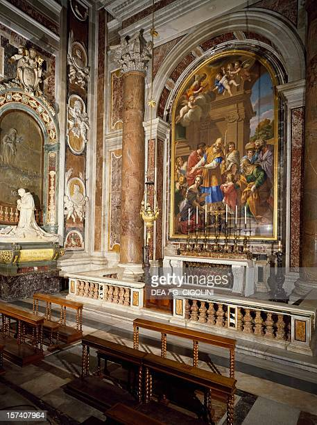 Chapel of the Presentation with mosaic depicting the Presentation of Mary in the Temple and the monument to Benedict XV by Pietro Canonica St Peter's...