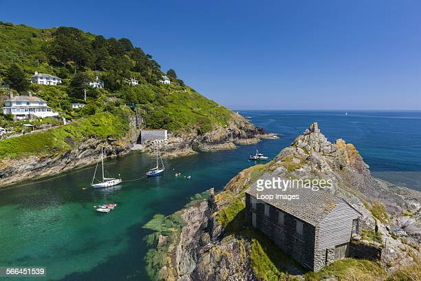 Chapel Rock and the entrance to Polperro harbour