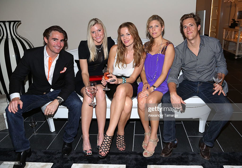 Chapman Ducote, Kristin Ducote, Olga Bahdanava, Lauren Beall and David Beall attend FENDI Casa's Art Basel cocktail party honoring the contemporary artwork of Andy Warhol with Elle Decor at FENDI Casa Luxury Living Showroom on December 6, 2012 in Miami, Florida.