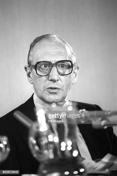 Chapman Pincher at a London press conference where he stood by the claim in his book Their Trade is Treachery that former MI5 chief Sir Roger Hollis...