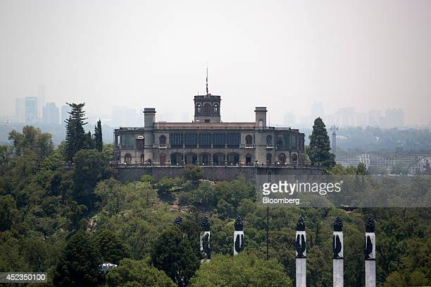 Chapultepec Castle stands as seen from BBVA Bancomer's Mexico headquarters building under construction in Mexico City Mexico on Thursday July 17 2014...