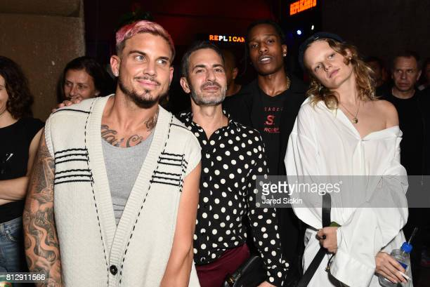 Char Defrancesco designer Marc Jacobs rapper A$AP Rocky and model Hanne Gaby Odiele attend Raf Simons Front Row during NYFW Men's at Golden Sun Life...