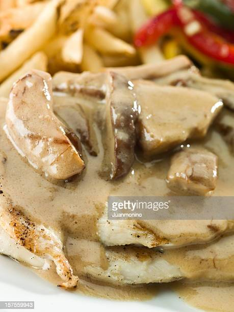 Char Grilled Chicken breast with mushrooms sauce