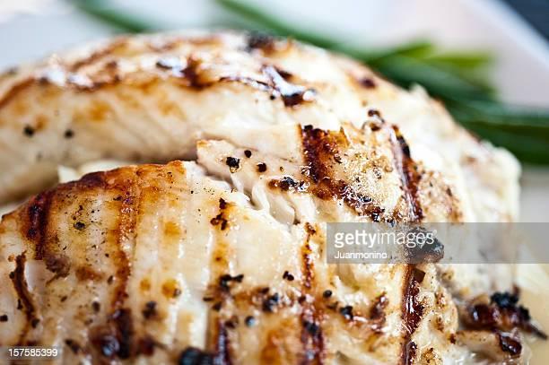 Char grilled fillet of fish