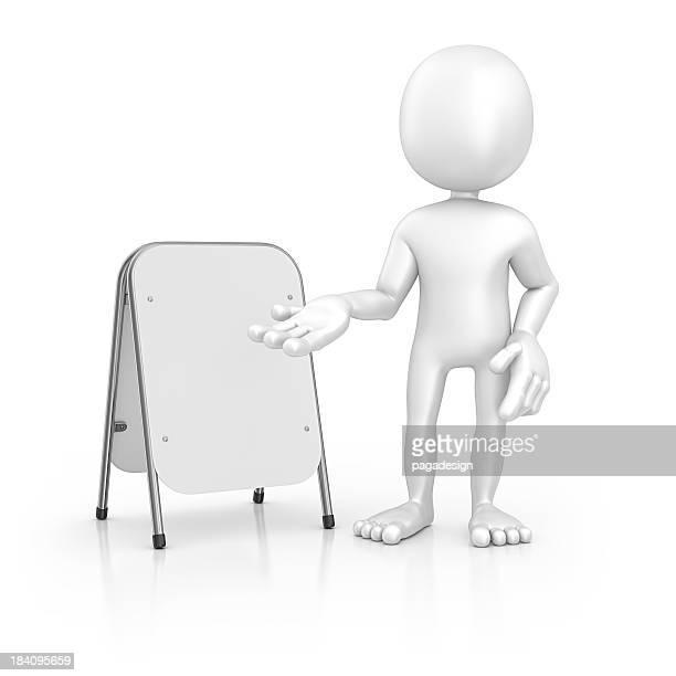 Charakter und sandwich whiteboard