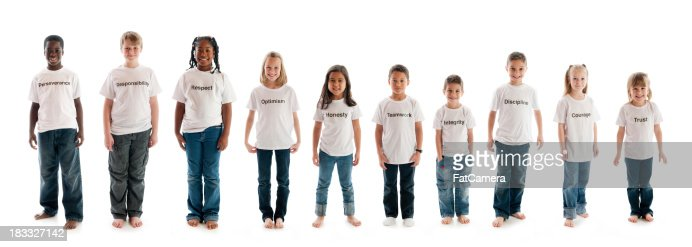 Character education traits on t-shirts