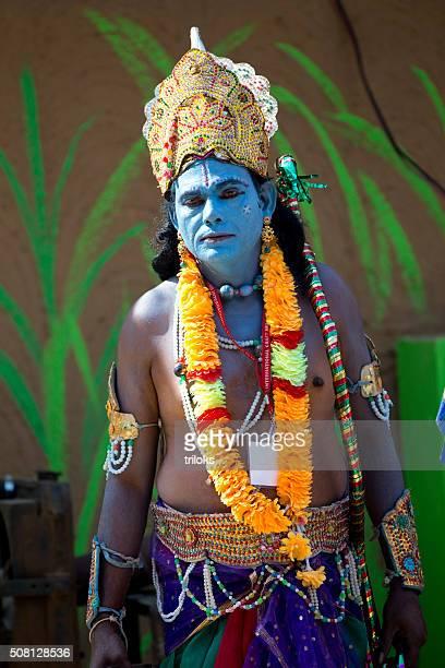Character of Rama in a fair, Surajkund, Faridabad, Haryana, India
