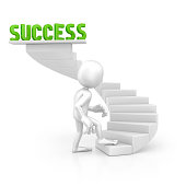 character walking on the success