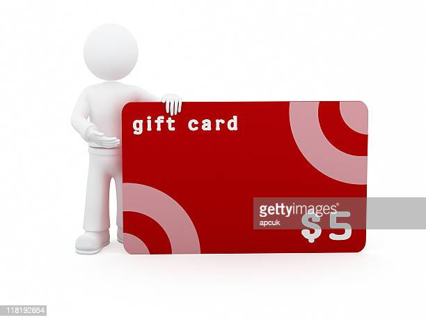3D character with 5$ gift card.