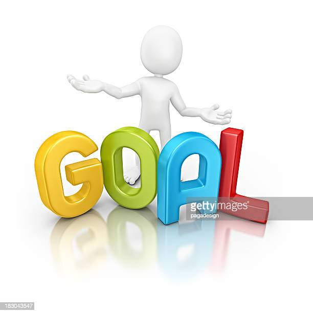 character with colorful goal