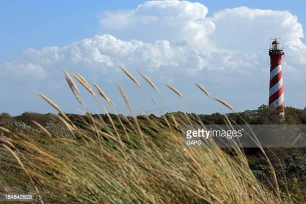 Faro de características Westerlichttoren en Nieuw Haamstede en los Países Bajos